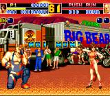 Fatal Fury 2 TurboGrafx CD Mai is victorious; Big Bear is ashamed :)