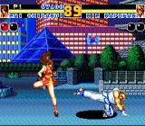 Fatal Fury 2 TurboGrafx CD It's night in Korea. Mai swiftly avoids Kim's treacherous kick