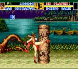 Fatal Fury 2 TurboGrafx CD Bonus stage. Destroy these stone pillars as fast as possible