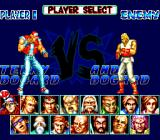 Fatal Fury Special TurboGrafx CD Player select. It's brothers fighting each other!..