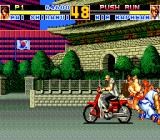 Fatal Fury Special TurboGrafx CD This biker was just quietly driving through the streets of Seoul, unable to understand what was going on...