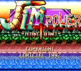 "Jim Power in ""Mutant Planet"" TurboGrafx CD Title screen"