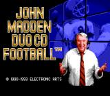 John Madden Duo CD Football TurboGrafx CD Title screen