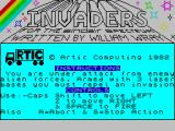 Invaders ZX Spectrum Loader/Title