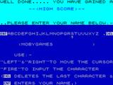 Invaders ZX Spectrum High score name