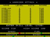 Harrier Attack! ZX Spectrum High score
