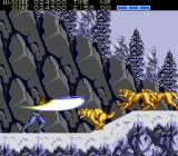 Strider TurboGrafx CD Snowy region. Fighting animals