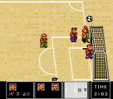 Nintendo World Cup TurboGrafx CD Playing on a sand field...