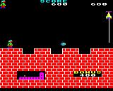 Hunchback BBC Micro Level three. An easier level with only ramparts to jump across and the occasional ball to jump over.