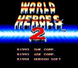 World Heroes 2 TurboGrafx CD Title screen
