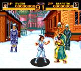 World Heroes 2 TurboGrafx CD Stereotypical snowy Russian scenario. hey, there is summer in this country, too!..