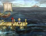 Ys: The Oath in Felghana Windows Down at the docks with Genos Island in the background