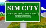 SimCity PC-98 Title screen