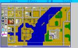 SimCity PC-98 Detroit. Ships on the river...