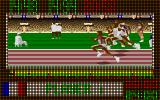 The Carl Lewis Challenge Amiga 110m Hurdles finish