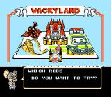 Tiny Toon Adventures 2: Trouble in Wackyland NES Main menu