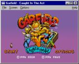 Garfield: Caught in the Act Windows Title Screen / Main Menu