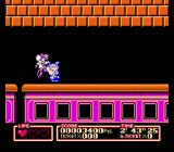 Tiny Toon Adventures 2: Trouble in Wackyland NES Train goes inside a tunnel, and pesky mice are trying to stop me