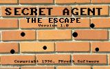 Secret Agent: The Escape DOS Load screen