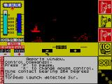The Hunt for Red October ZX Spectrum Image intensification (night vision) - Torpedo launched