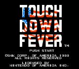 Touchdown Fever NES Title