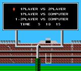 Touchdown Fever NES Options