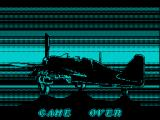P47 Thunderbolt ZX Spectrum Game Over.
