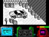 Vendetta ZX Spectrum three screens to the right : as far as he can go. 
