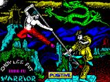 Choy-Lee-Fut Kung-Fu Warrior ZX Spectrum Load screen