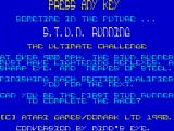 S.T.U.N. Runner ZX Spectrum Game plot and credits