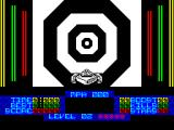 S.T.U.N. Runner ZX Spectrum Start of the game. The concentric rings flash to give the impression of motion & speed