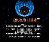 The Guardian Legend NES Title