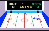 Slap Shot: Super Pro Hockey Intellivision Red player headed for the Sin Bin (penalty box)