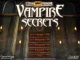Hidden Mysteries: Vampire Secrets Windows Main menu