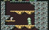 Impossamole Commodore 64 First boss fight against a spitting caterpillar