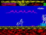 Mythos ZX Spectrum The thing on the right spits snakes. Any contact with a snake is fatal. Evan coming close to one costs a life. Avoid at all costs