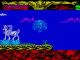 Mythos ZX Spectrum Past one un-killable thing and landed on another. That green blob just grew out of the grass as ho came in to land