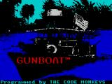 Gunboat ZX Spectrum After the Accolade screen loading the game displays this screen - must be the gun boat at night. Credits are displayed along the bottom edge