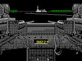 Gunboat ZX Spectrum Ahead is a gun emplacement and some sampans