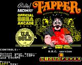 Tapper BBC Micro Loading screen and key selection