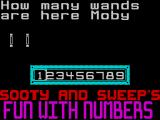 Sooty's Fun With Numbers ZX Spectrum The player must then use the left / right keys to highlight the correct number. The answer is rarely greater than six