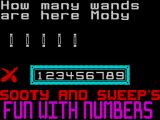 Sooty's Fun With Numbers ZX Spectrum The game awards a cross if the answer is wrong ...