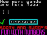 Sooty's Fun With Numbers ZX Spectrum .. or a big green tick if the answer's right