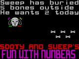 Sooty's Fun With Numbers ZX Spectrum Sweeps Bones