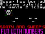 Sooty's Fun With Numbers ZX Spectrum There! That's two bones moved, now to press the space-bar