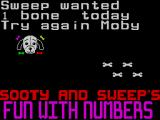 Sooty's Fun With Numbers ZX Spectrum This is the message the player gets when the answer is wrong.