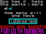 Sooty's Fun With Numbers ZX Spectrum Soo's Hats