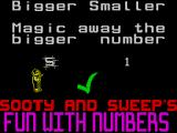 Sooty's Fun With Numbers ZX Spectrum Bigger or Smaller