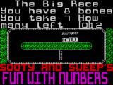 Sooty's Fun With Numbers ZX Spectrum The player must select the correct answer via the left/right action keys