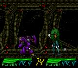 Blackhole Assault TurboGrafx CD You can choose to put two enemy robots against each other